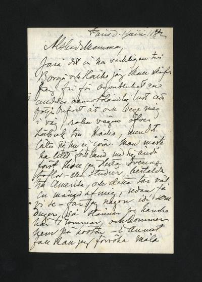 Paris d. 1 Juni 1882