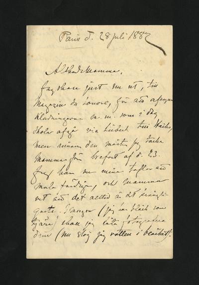 Paris d. 28 Juli 1882
