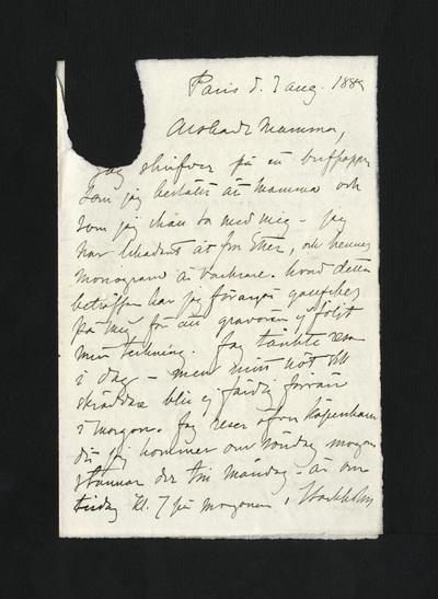 Paris d. 3 aug. 1882