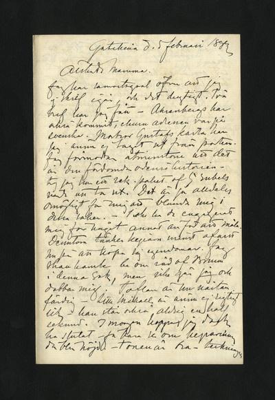 Gatschina d. 5 februari 1882