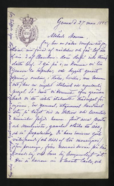 Genua d. 27 mars 1886