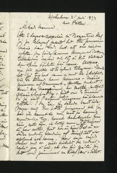 Kjobenhavn 26 juli 1893 hos Pasteur.
