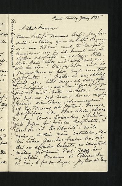 Paris torsdag 9 maj 1895
