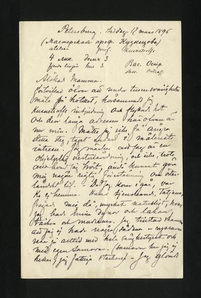 Petersburg. tisdag. 17 mars 1896