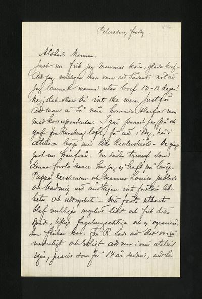 Petersburg fredag 1896
