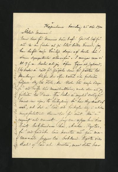 Köpenhamn torsdag 25 okt 1900