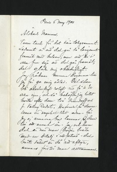Paris 6 maj 1901