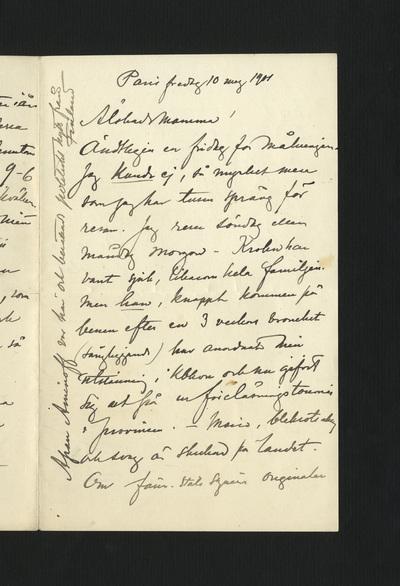 Paris fredag 10 maj 1901