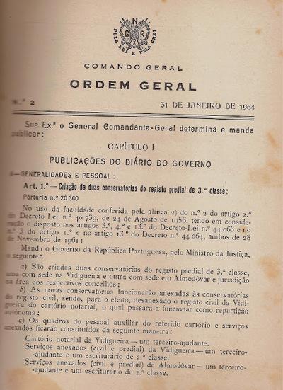 Ordem do Comando Geral da Guarda Nacional Republicana - GNR: Ordem à Guarda - 1940-1949