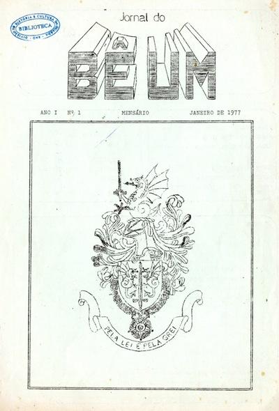 Jornal do bê um : órgão de informação, cultura e recreio do Batalhão nº 1 da GNR