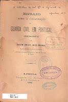 Ensaio sobre a organização da guarda civil em Portugal