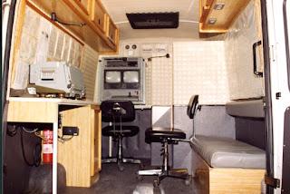 Fotografia do Sistema de Vigilância Costeira LAOS da Guarda Fiscal: Posto Móvel do Sistema Yuval