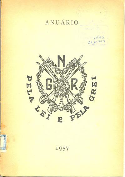 Anuário da GNR Guarda Nacional Republicana de 1957