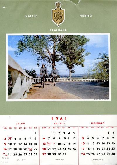 Calendário da Guarda Nacional Republicana [GNR] ano de 1961: [visual gráfico]