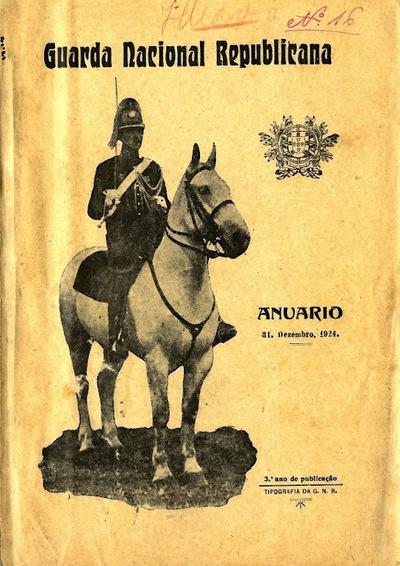 Anuário da GNR Guarda Nacional Republicana de 1924