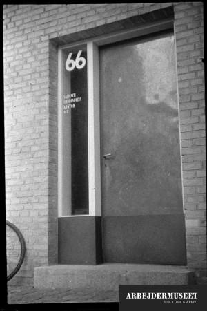 København, Christianshavn(?), døren til nr. 66,