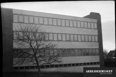 Vilhelm Lauritzens byggeri, Gladsaxe Skole, 1936/1937, hjørne af bygningen