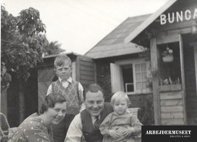 Familien Hedtoft i sommerhus i Dragør