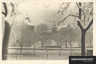 Akerhus i Oslo i vinterstemning