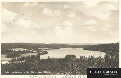 Udsigt over Hållsjön fra Lundbergs Skola