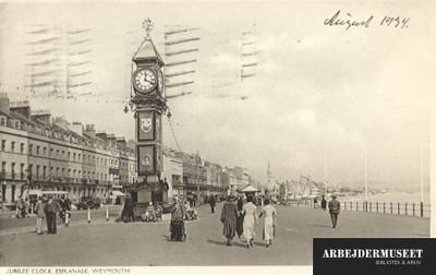 Jubilee clock på Esplanade i Weymouth
