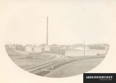 Fabriksbygninger med tilkørsel af jernbane