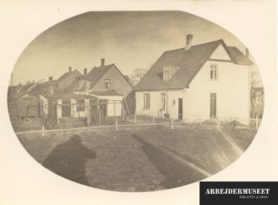 Husrække i en provinsby