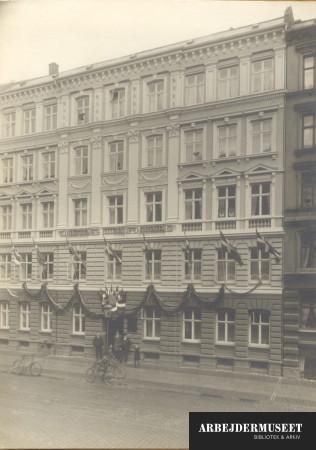 Ejendommen Vendersgade 24 i København, hvor tjenernes faglige forening har til huse.