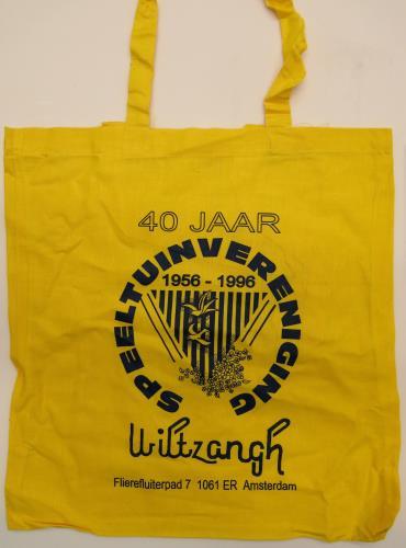 Tasje t.g.v. 40 jaar Speeltuinvereniging Wiltzangh