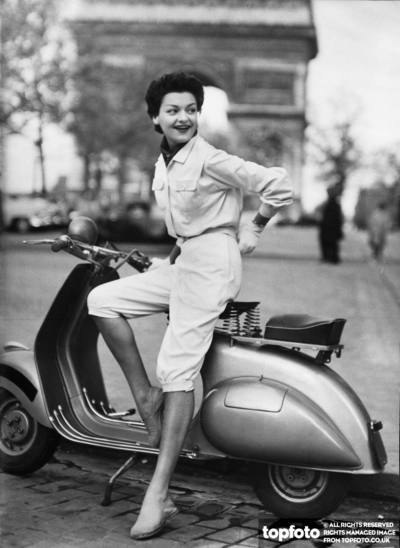 DIOR'S IDEA FOR THE SCOOTER GIRL
