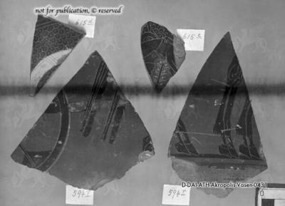 Fragment eines attisch-schwarzfigurigen Gefäßes