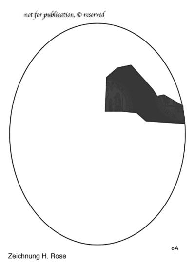 Fragment einer Terrakottamaske