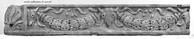 Sarkophagdeckel-Fragment mit Girlanden