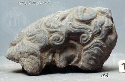 Fragment eines männlichen Kopfes
