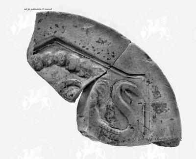 Antefixfragment mit Gorgo-Darstellung