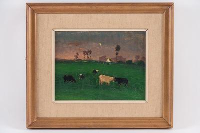 Avond met koeien, studie (niet getekend)