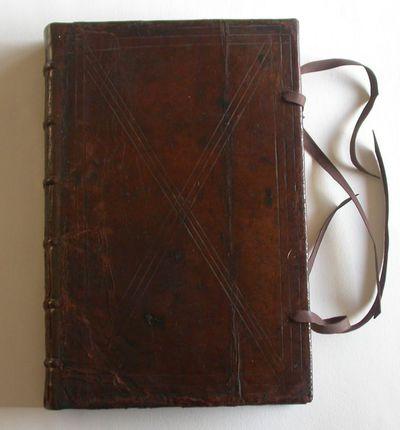 Anoniem, manuscript van rederijkerskamer De Roode Roos 'Ordonantiën', bevat reglementen, recessen, verkiezingen, inventarissen..., 1634-1832, handgeschreven op papier, leer.