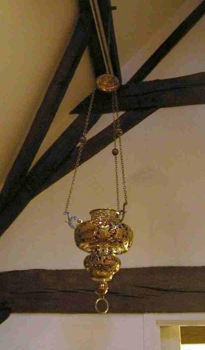 Anoniem, godslamp, uit de Virga-Jessebasiliek, 18de eeuw, zilver.