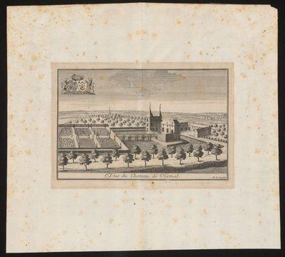 Remacle Le Loup (1694-1746), Vue du Chateau de Hamal, ca. 1740, papier, kopergravure.