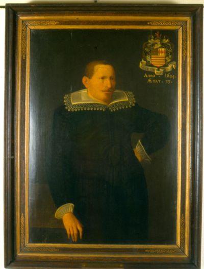 Thomas Morren (1580-1661), Herman Vuskens (Vossius) op 37-jarige leeftijd, 1624, olie op hout.