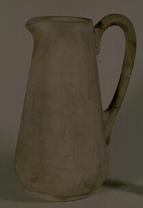 Manufacture de Céramiques Décoratives de Hasselt (1895-1954), proefmodel van kruik, s.d., ongeglazuurd gips.