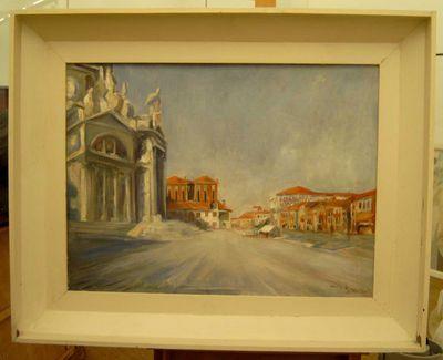 Gaston Joseph Wallaert (1889-1954), Venezia, s.d., olie op hout.