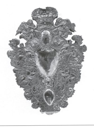 Arnold Frederici (1657-1726), Reflector, meestermerk F, 1714, Hasselts Zilver, lindehout.
