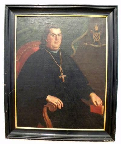 Pierre Jozef Verhaghen (1728-1811), Portret van abt Eucherius Knaepen, 1792, olie op doek.