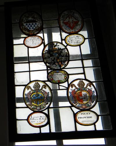 Anoniem, samengesteld glasraam 'Pontiniacum 1657' van Herkenrode, glas-in-lood.