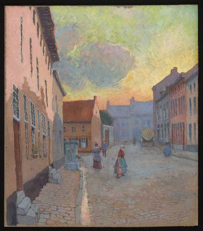 Paul Marie Bamps (1862-1932), De Maagdendries, ca. 1890, gouache.