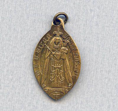 Philippen, Medaille met afbeelding Virga Jesse en torenmonstrans, 1804-1873, messing.
