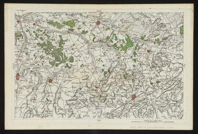 Louis Capitaine (ca. 1749-ca. 1797), kaart van Midden- en Zuid-Limburg, 1795, papier, handgekleurde gravure.