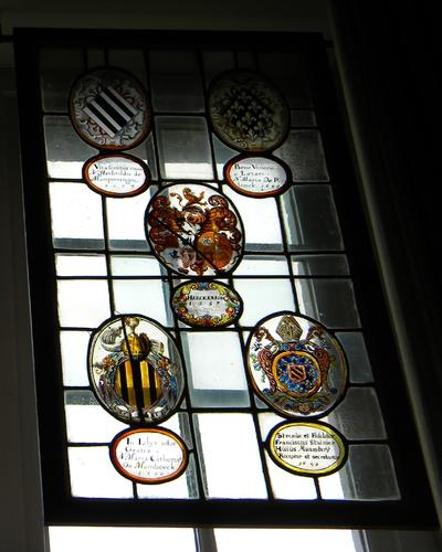 Anoniem, samengesteld glasraam 'Herckenroed 1657' van Herkenrode, glas-in-lood.