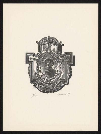 Hedwig Pauwels (°1934), De Moriaan, genummerd 1/500, eindejaarsuitgave van de Vrienden van Het Stadsmus vzw, 1992, papier, houtgravure.